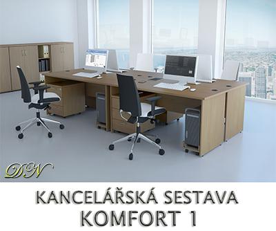 Kancelářská sestava nábytku VISIO 1 - Designový NÁBYTEK