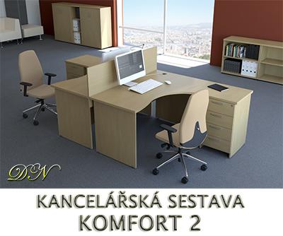 Kancelářská sestava nábytku VISIO 2 - Designový NÁBYTEK