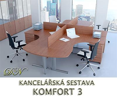 Kancelářská sestava nábytku VISIO 3 - Designový NÁBYTEK