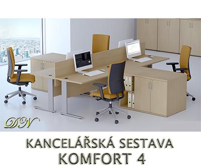 Kancelářská sestava nábytku VISIO 4 - Designový NÁBYTEK