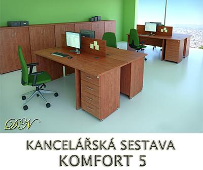 Kancelářská sestava nábytku VISIO 5 - Designový NÁBYTEK