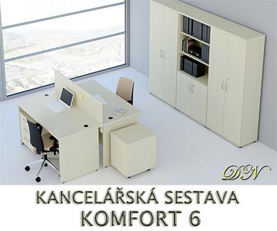 Kancelářská sestava nábytku VISIO 6 - Designový NÁBYTEK