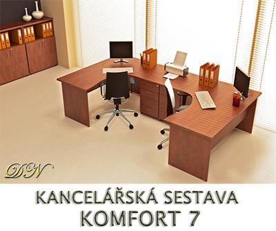 Kancelářská sestava nábytku VISIO 7 - Designový NÁBYTEK