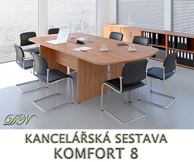 Kancelářská sestava nábytku VISIO 8 - Designový NÁBYTEK