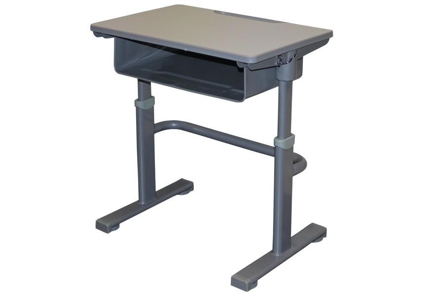 Bradop Psací stůl, Školní lavice, výškově stavitelná, šedá LAVICE, KTERÁ ROSTE S DĚTMI C304