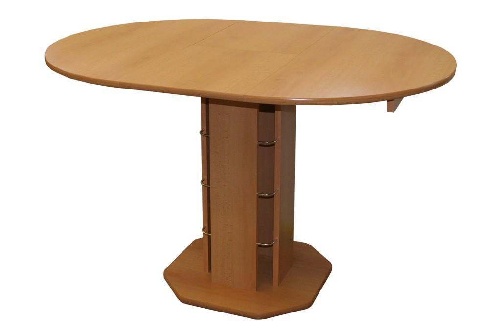 Bradop Jídelní stůl rozkládací kulatý TADEÁŠ, hnědý S07