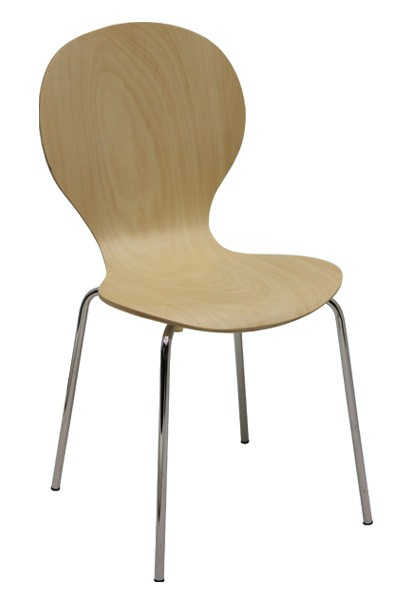 Židle PETRA, chrom-lípa  - Z10