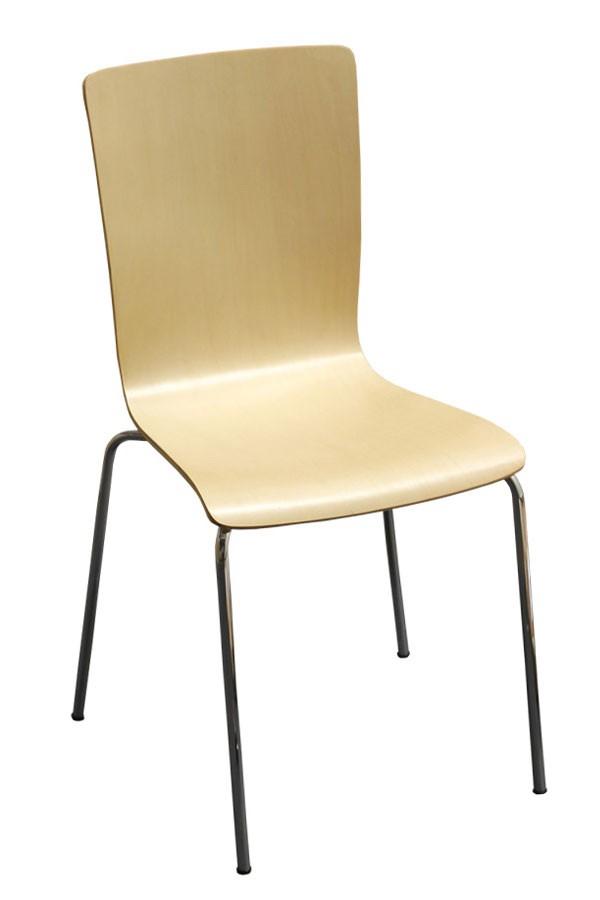 Židle HELENA, chrom - lípa - Z11