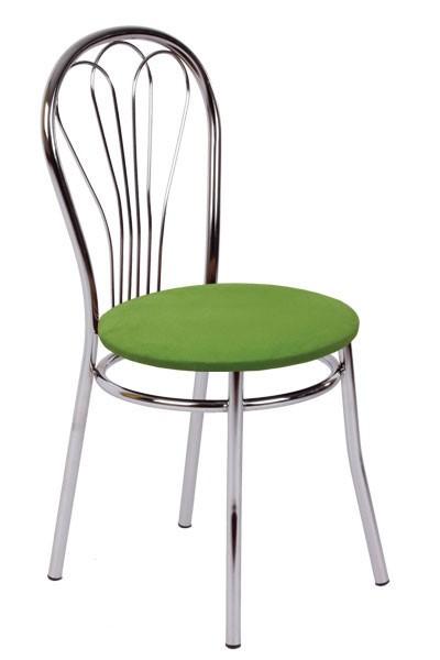 Jídelní židle KVĚTA, chromovaná - Z83