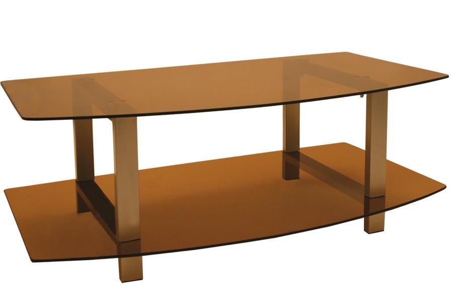 TV stolek LCD, sklo kouřové /2ks bal./ - T81