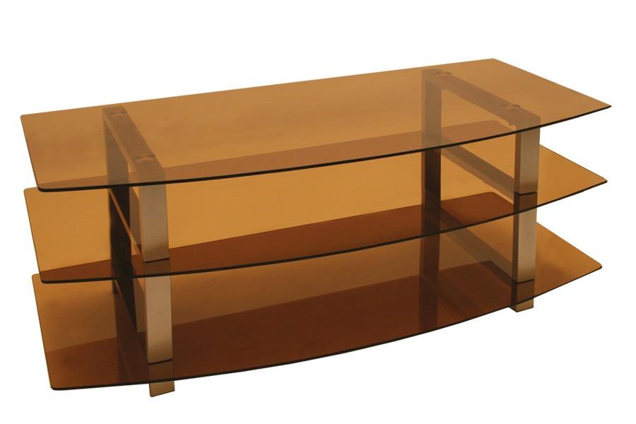 TV stolek LCD, sklo kouřové /2ks bal./ - T82