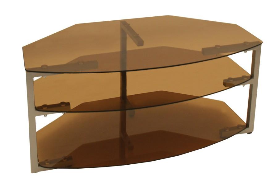 TV stolek LCD, sklo kouřové /2ks bal./ - T83