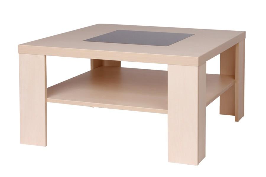 Bradop Konferenční stolek TOBIAS, čtvercový, sklo černé K105