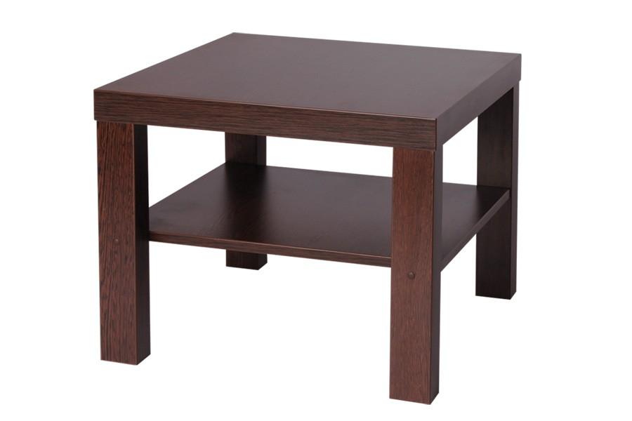 Konferenční stolek LUBKO, čtvercový, police - K116