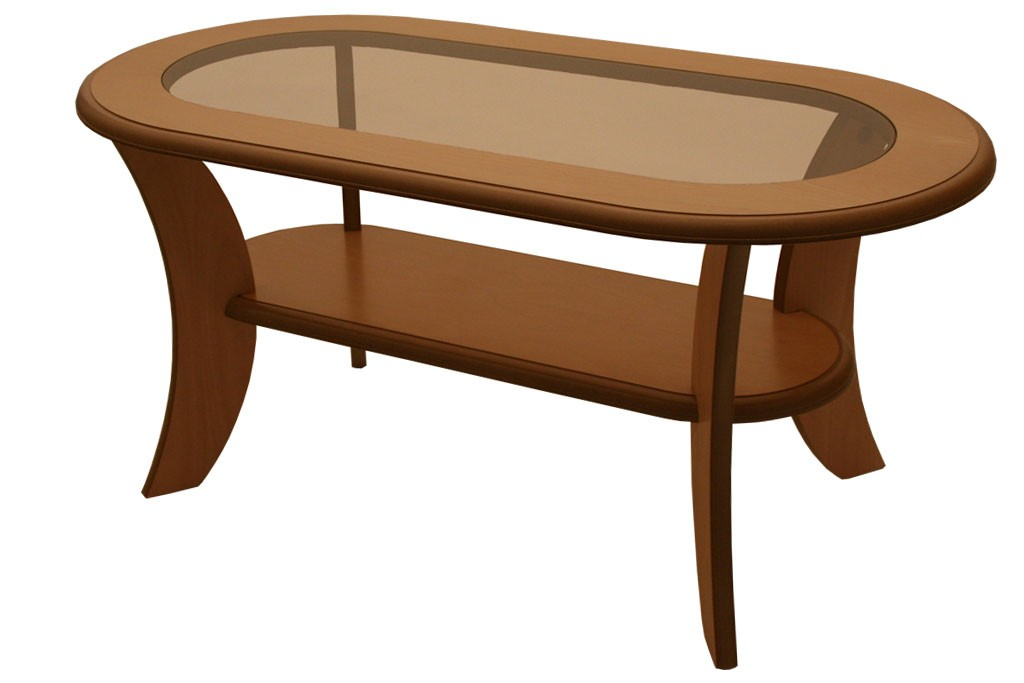 Bradop Konferenční stolek IGNÁC, oválný, MDF+sklo K51
