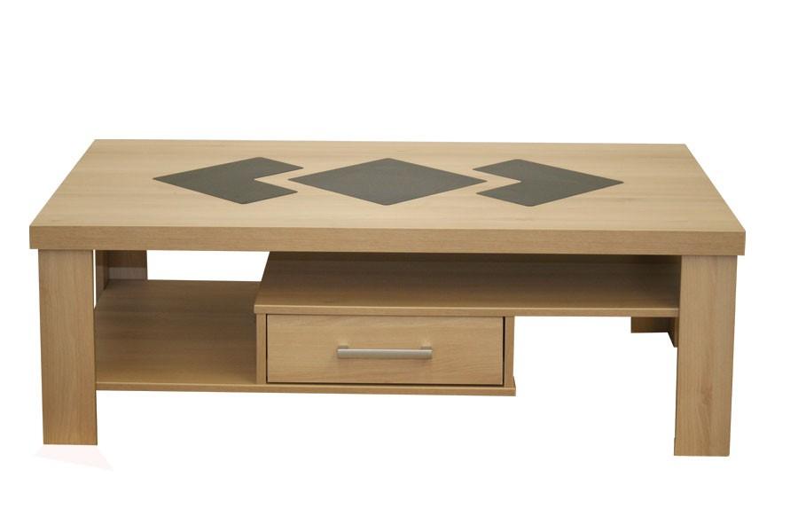 Bradop Konferenční stolek obdélník, zásuvky - sklo K110
