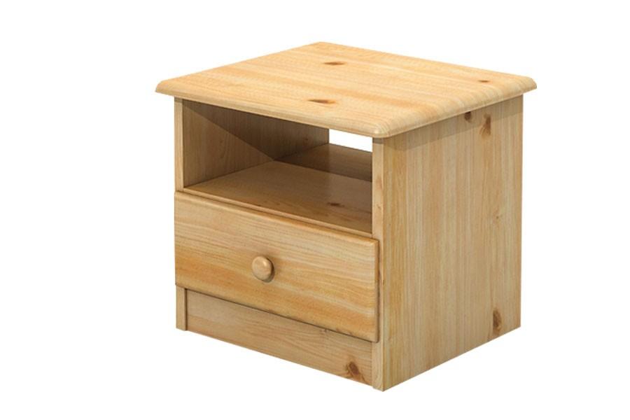Noční stolek, masiv borovice - B018