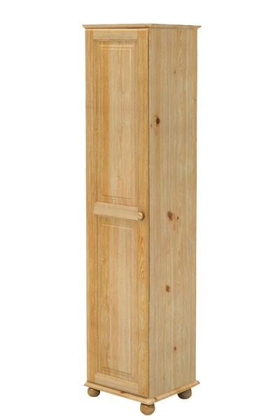 Šatní skříň jednodveřová, masiv borovice - B242