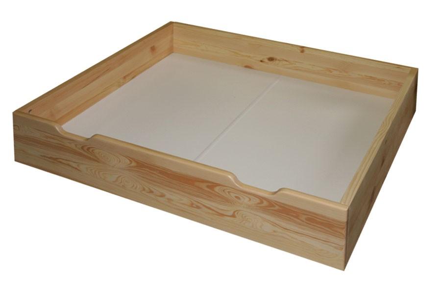 Zásuvka pod postel, masiv smrk - B475