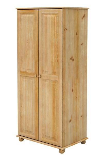 Šatní skříň dvoudveřová, masiv smrk - B821