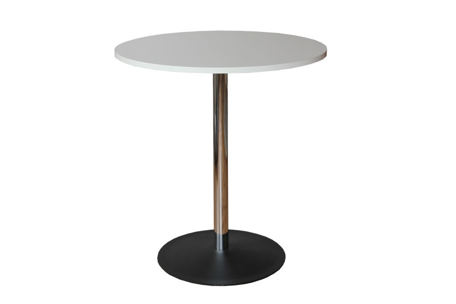Jídelní stůl kulatý, chromované nohy - S142