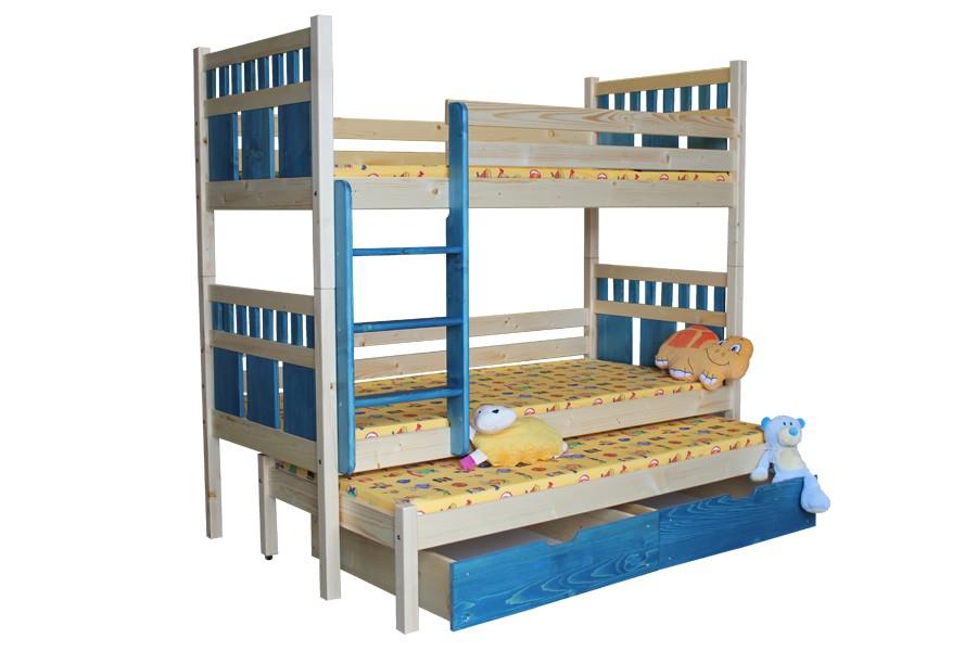 Patrová postel, trojpostel VAŠÍK - B408-90x200