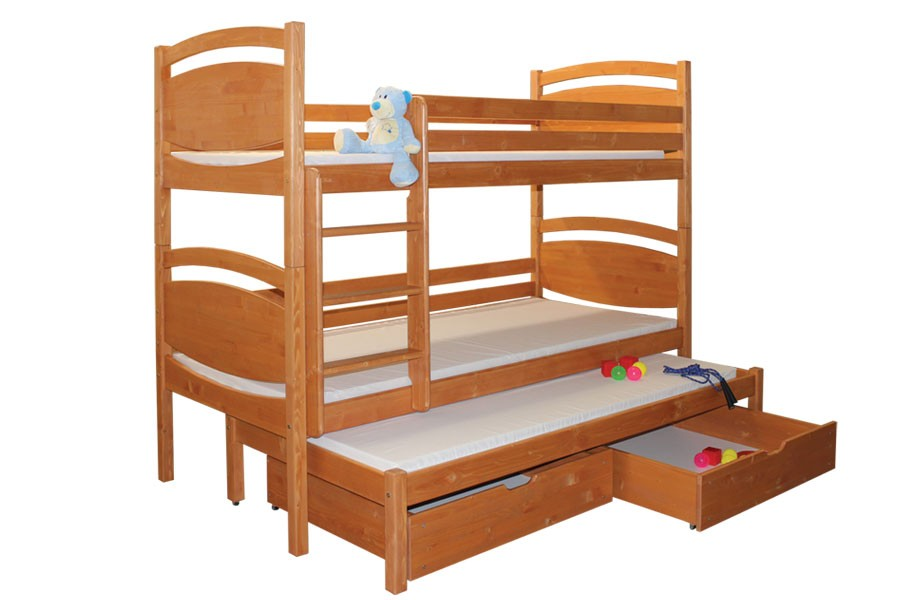 Patrová postel, trojpostel DAVÍDEK - B409-90x200