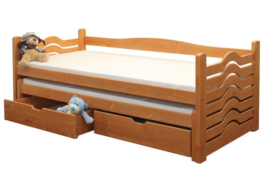 Dětská postel IVANKA, dvoulůžko (postel s přistýlkou) - B431-90x200