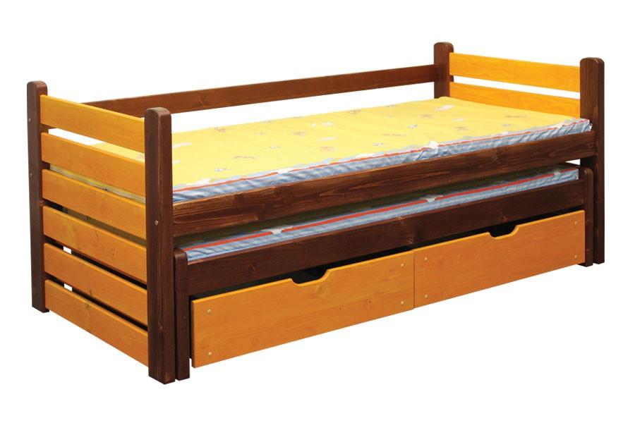 Dětská postel ANIČKA, dvoulůžko (postel s přistýlkou) - B433-90x200