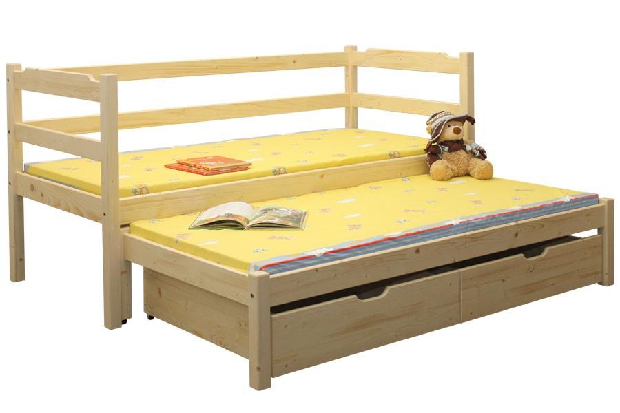 Dětská postel MARUŠKA, dvoulůžko (postel s přistýlkou) - B434-90x200