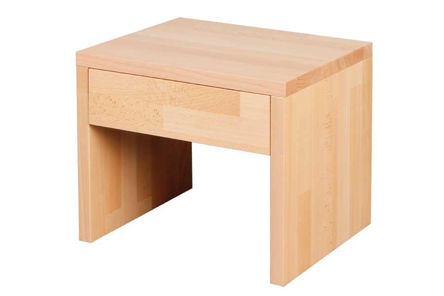 Noční stolek se zásuvkou VÍTEK, buk - L016