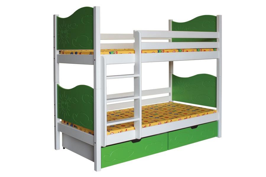 Bradop Patrová postel NICOLAS (základní provedení) B412-80x180