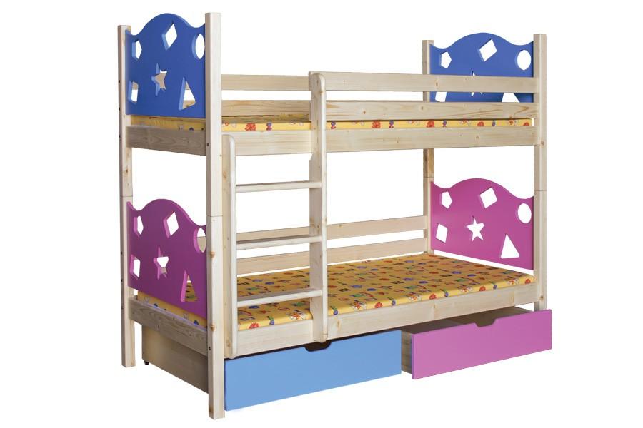 Bradop Patrová postel VALENTÝN (základní provedení) B413-80x180