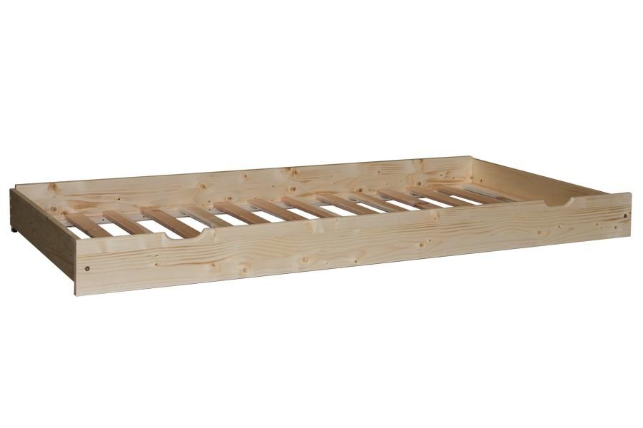 Přistýlka pod postel 90, smrk bílá+rošt - B474