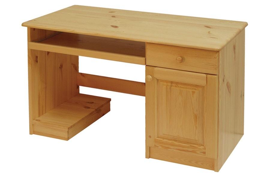 Psací stůl, dvířka + 1zásuvka, smrk - B742