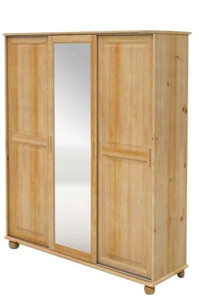 Skříň s posuvnými dveřmi, třídveřová se zrcadlem - B841