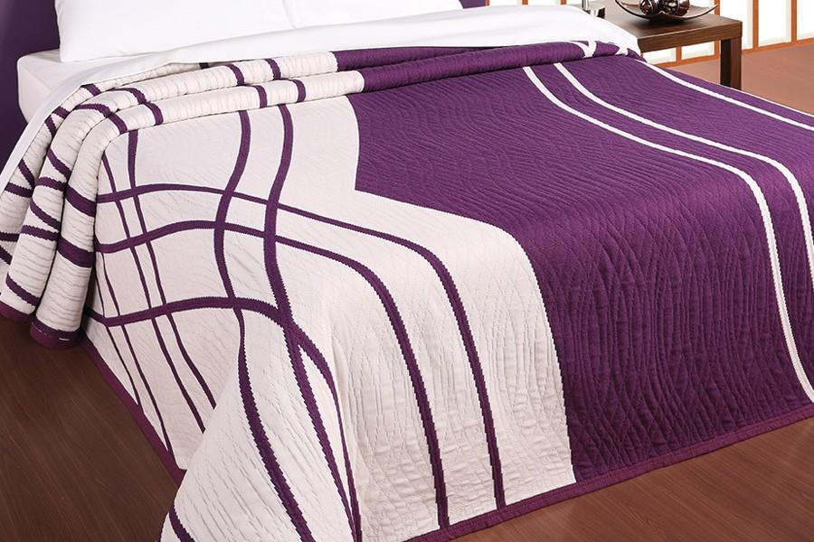 Bradop Přehoz 140 x 220, CASANOVA fialový F006