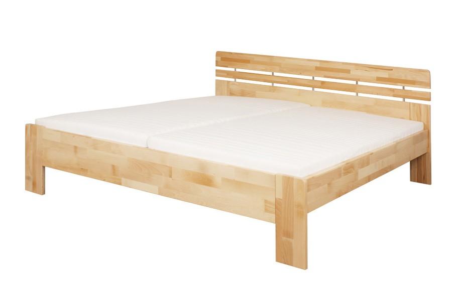 Manželská postel DANIELA 160 x 200, masiv buk - L045