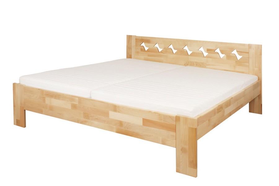 Manželská postel BÁRA 160 x 200, masiv buk - L048
