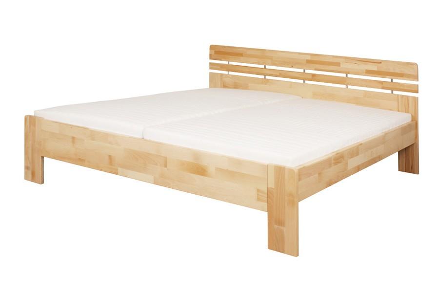 Manželská postel DANIELA 180 x 200, masiv buk - L046