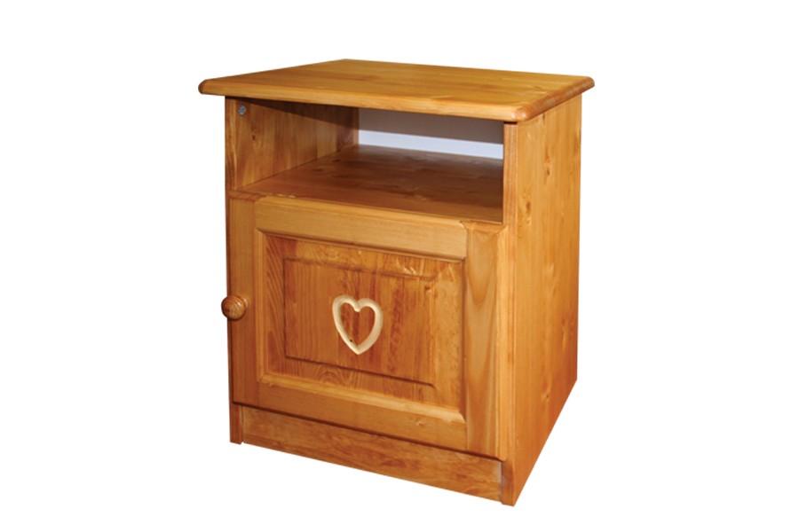 Noční stolek, masiv smrk - B737-ROMANTIK