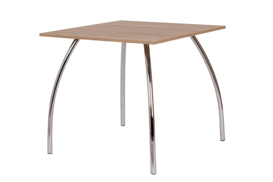 Jídelní stůl DAKO I 80x80, nohy chrom - S145