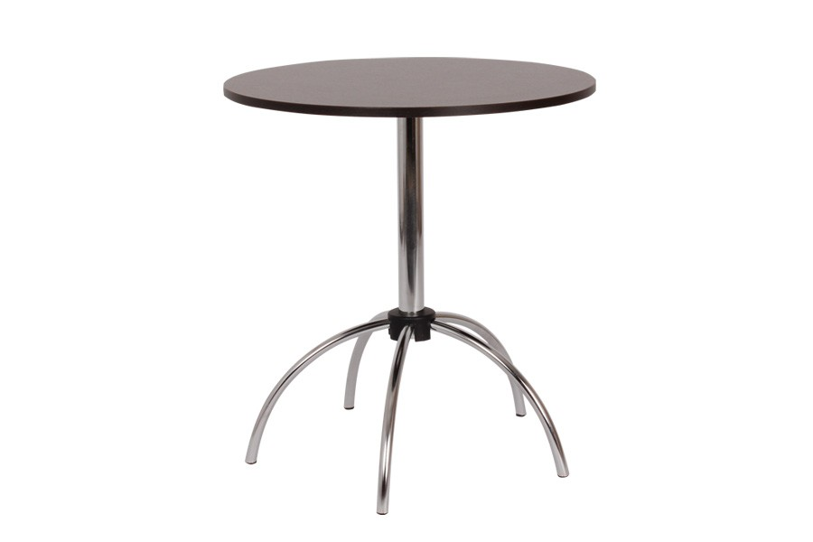 Jídelní stůl VILIK, průměr 70, nohy chrom - S149