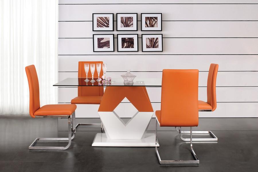 Jídelní stůl VALY 160x90, MDF+sklo - S90