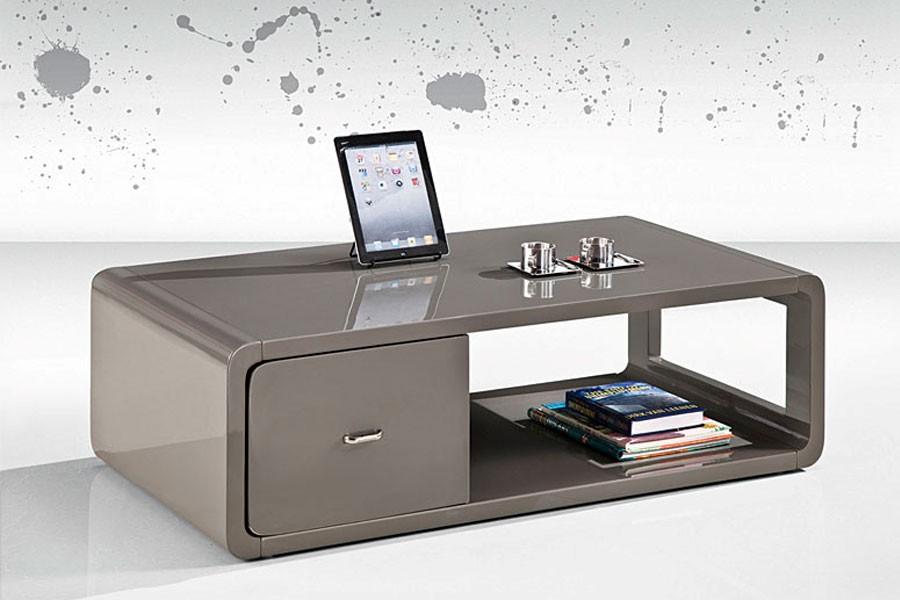 Konferenční stolek designový, MDF lesk - K90 NOVINKA