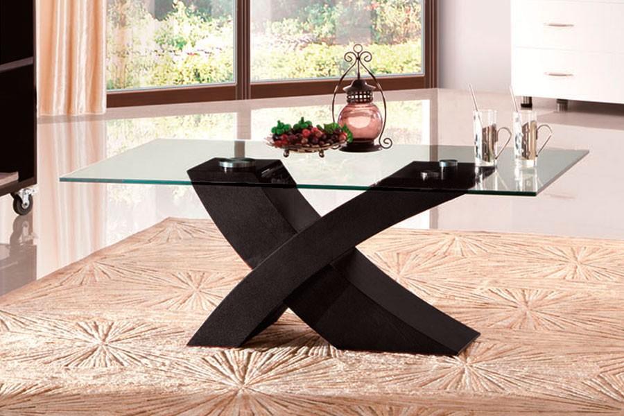 Bradop Konferenční stolek designový, MDF a sklo K91 NOVINKA
