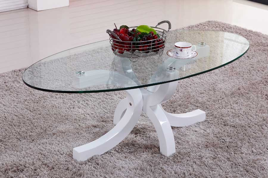 Bradop Konferenční stolek designový, MDF lesk a sklo K94 NOVINKA