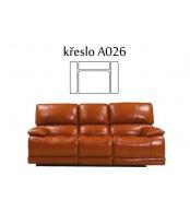 Relaxační křeslo JESSICA, kožené polohovací - A026