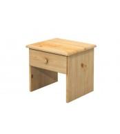 Noční stolek 1 zásuvka, masiv borovice - B012