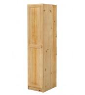 Šatní skříň jednodveřová,masiv borovice - B020